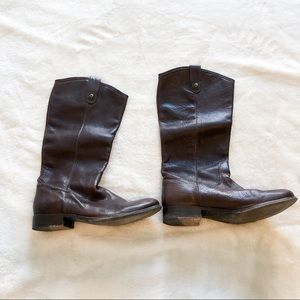 Frye | Melissa Leather Brown Boots
